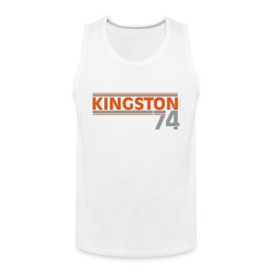 KINGSTON 74  ORANGE/GRIS - Débardeur Premium Homme