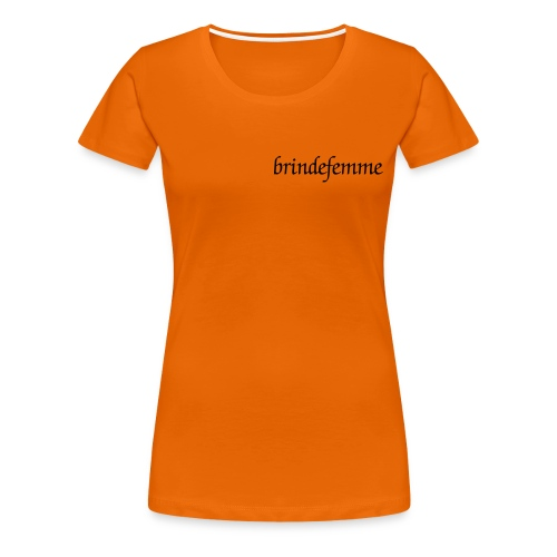 Tee-shirt brindefemme Orange - T-shirt Premium Femme