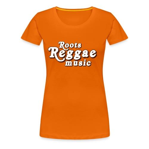 REGGAE MUSIC BLANC/MARRON - T-shirt Premium Femme