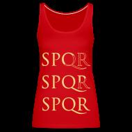 Tops ~ Camiseta de tirantes premium mujer ~ Camiseta Top Spaghetti SPQR