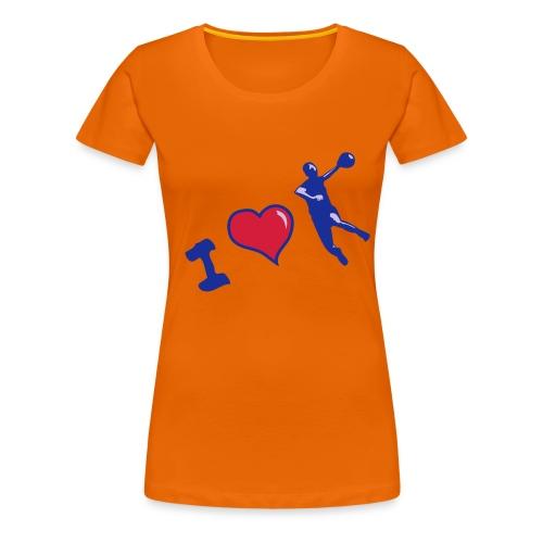 handball classique femme motif bleu HAND  - T-shirt Premium Femme