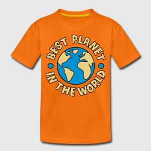 Orange Best Planet T-shirts Enfants - T-shirt Premium Ado