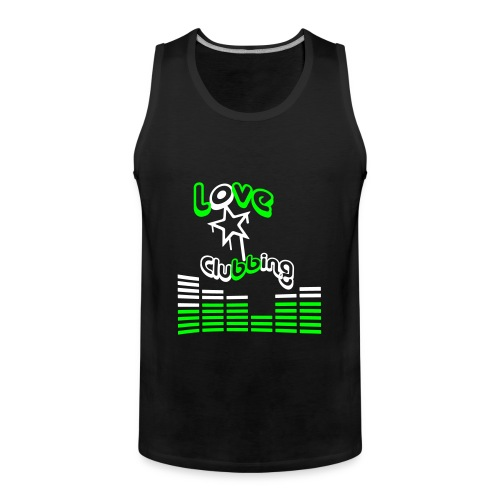 Love Clubbing (White & Lime Logo) - Premium singlet for menn