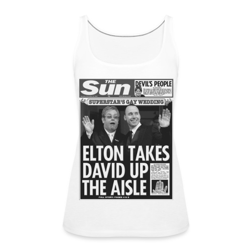 Elton Takes David Up The Aisle - Women's Premium Tank Top