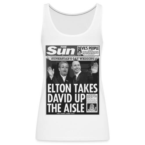Elton Takes David Up The Aisle - Women's Premium Tank Top