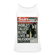 Tops ~ Women's Premium Tank Top ~ World's Tallest Bloke Lives in Neasden