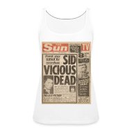 Tops ~ Women's Premium Tank Top ~ Sid Vicious Dead