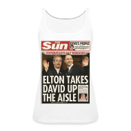 Tops ~ Women's Premium Tank Top ~ Elton Takes David Up The Aisle