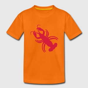 Orange Hummer Kinder T-Shirts - Teenager Premium T-Shirt