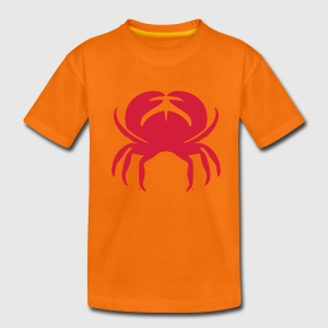Orange Krebs Kinder T-Shirts - Teenager Premium T-Shirt