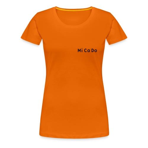 T-Shirt (w.) orange, Schrift schwarz - Frauen Premium T-Shirt