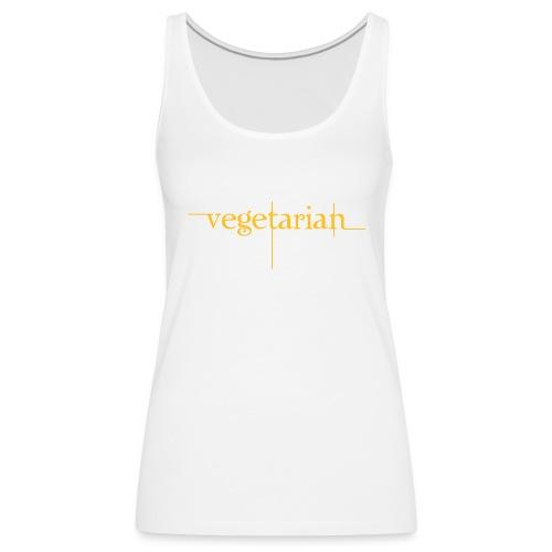 vegerarian t-shirt - Dame Premium tanktop