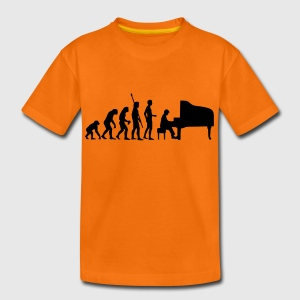 evolution_pianist Shirts - Teenage Premium T-Shirt