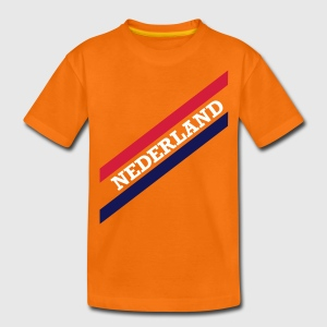 Oranje NED STRIPES Kinder shirts - Teenager Premium T-shirt