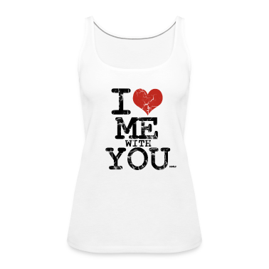 Blanc i love me with you by wam Débardeurs