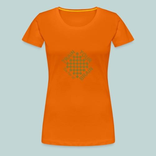 Train brain - go for it 1 - Frauen Premium T-Shirt