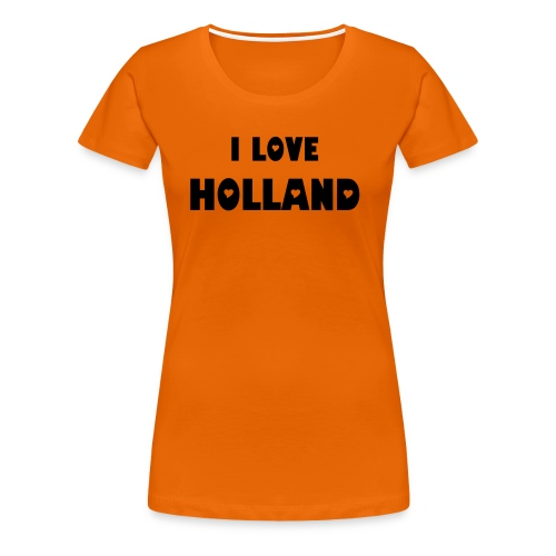 Love Holland, Hate Soccer Lady shirt - Vrouwen Premium T-shirt