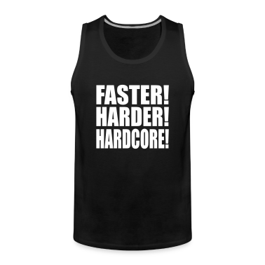 Black Faster Harder Hardcore EN Men's T-Shirts