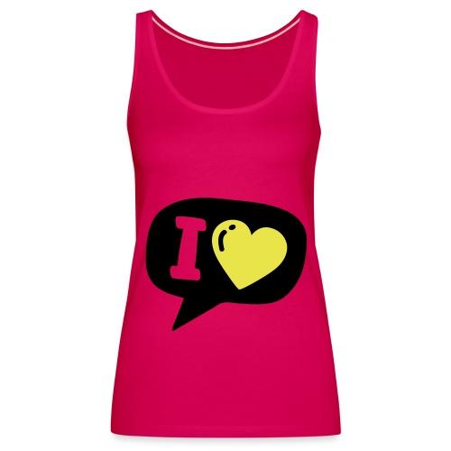 Dames top love you. - Vrouwen Premium tank top