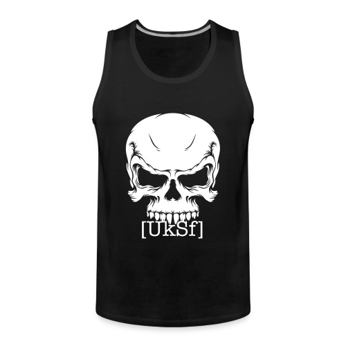 [UkSf] White print - Men's Premium Tank Top