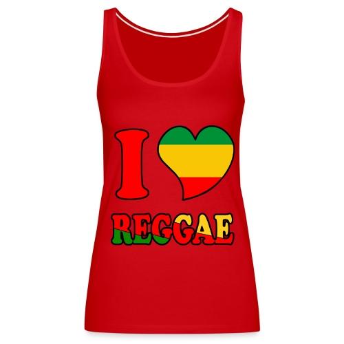 Débardeur rouge - love reggae  - Débardeur Premium Femme