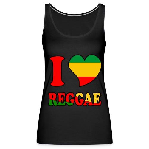 Débardeur noir - love reggae  - Débardeur Premium Femme