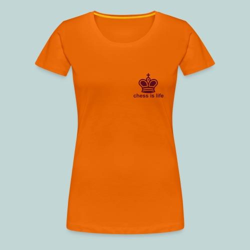 chess is life 1 - Frauen Premium T-Shirt