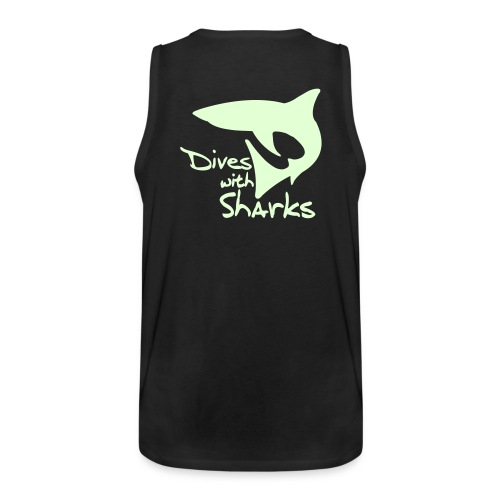 Muskelshirt - Diving with sharks (glow in the dark) - Männer Premium Tank Top