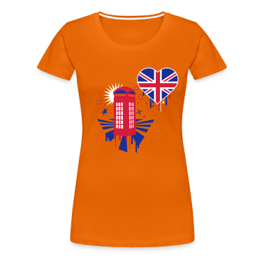 Orange england Women's T-Shirts