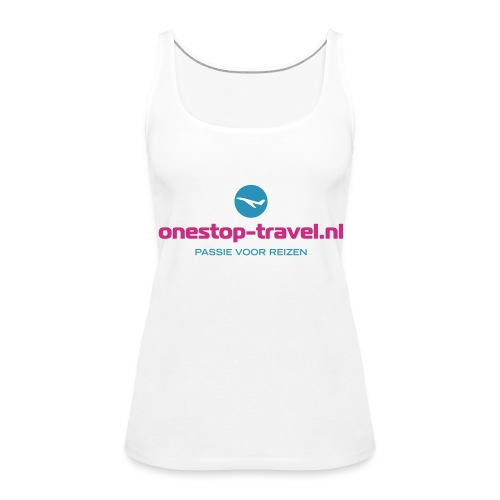 OneStop-Travel  dames tank wit - Vrouwen Premium tank top