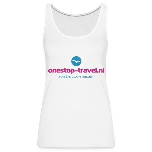 OneStop-Travel  dames tank wit - Vrouwen Premium tank top