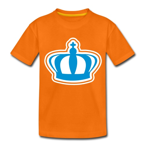 Koninginnedag kroon kindershirt - Teenager Premium T-shirt