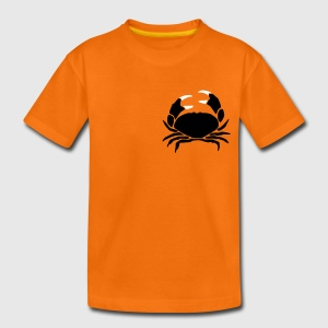 Orange krebs_2c Kinder T-Shirts - Teenager Premium T-Shirt