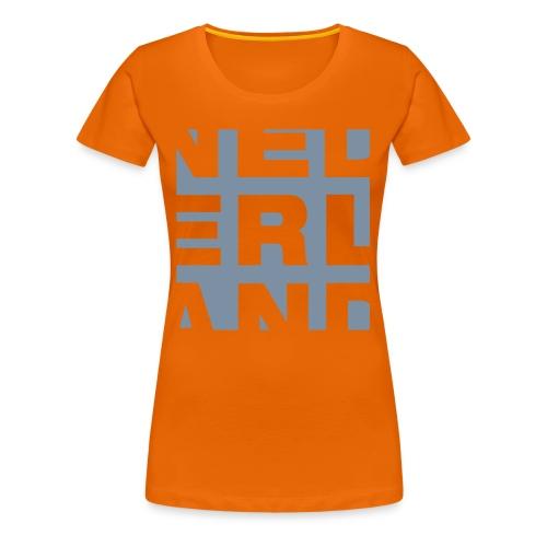 NEDERLAND zilver-metallic - Vrouwen Premium T-shirt