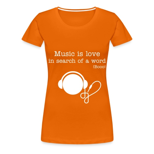 Music is love - Women's Premium T-Shirt