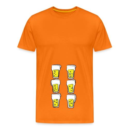 Bier Sixpack - Mannen Premium T-shirt