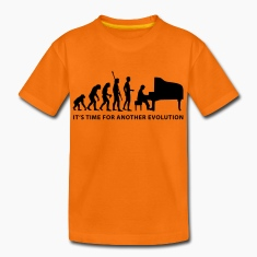 Orange evolution_pianist_b Kids' Shirts