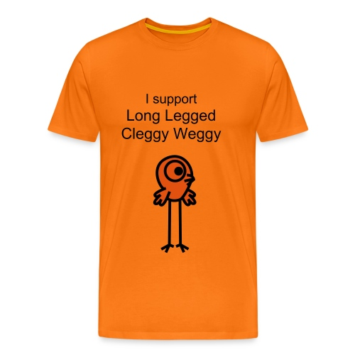 I support Long Legged Cleggy Weggy - Men's Premium T-Shirt