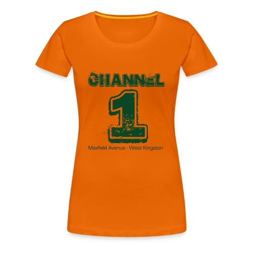 Channel 1 - Maxfield Ave - Women's Premium T-Shirt