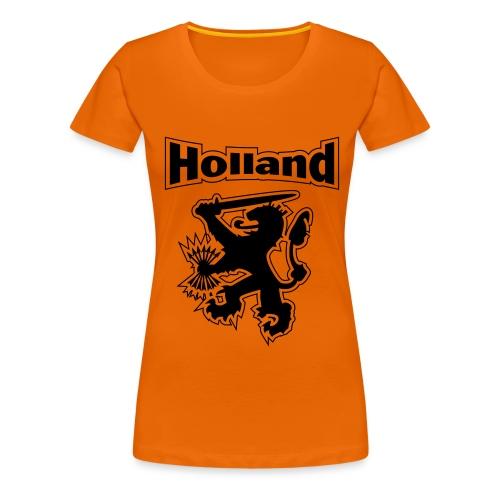 EK/WK klassiek damesshirt - Holland / Leeuw - Vrouwen Premium T-shirt