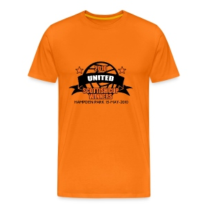 D United 2010 Scottish Cup - Men's Premium T-Shirt