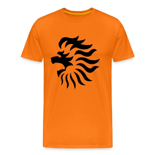 Men: Flaming Lion t-shirt oranje - Mannen Premium T-shirt