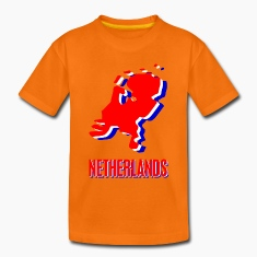 Orange Netherlands Kids' Shirts