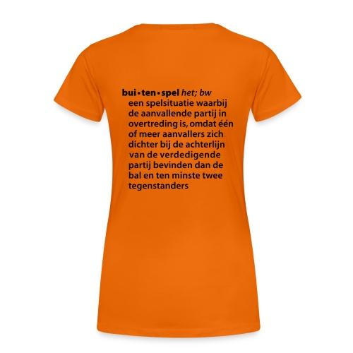 Voetbal vrouw buitenspel - Vrouwen Premium T-shirt