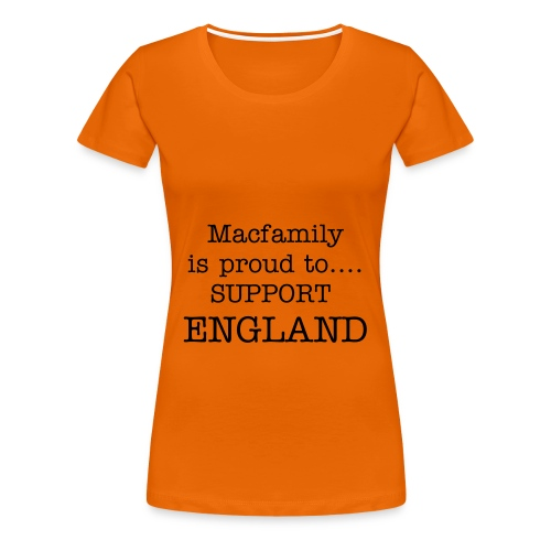 Macfamily supports England - Women's Premium T-Shirt