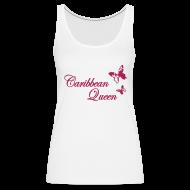 Tops ~ Frauen Premium Tank Top ~ Caribbean Queen Butterfly