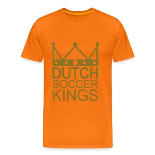 Men: Dutch Soccer Kings GOUD t-shirt - Mannen Premium T-shirt
