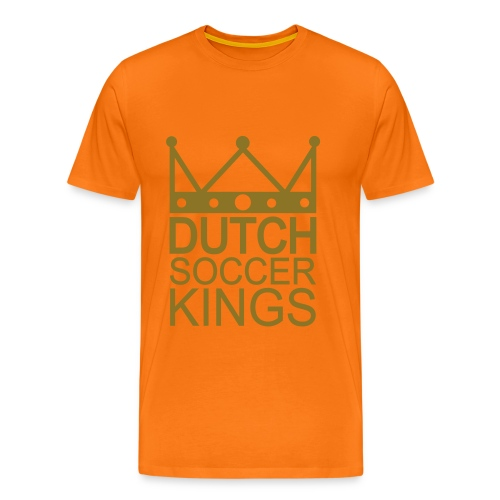 Men: Dutch Soccer Kings GOUD t-shirt - Mannen Premium T-shirt