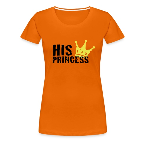 Girlieshirt His Princess - Frauen Premium T-Shirt