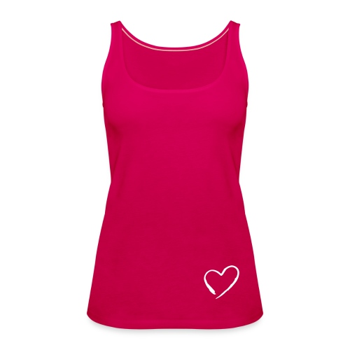 Top ufficiale collezione heart Agendaeventi - Canotta premium da donna